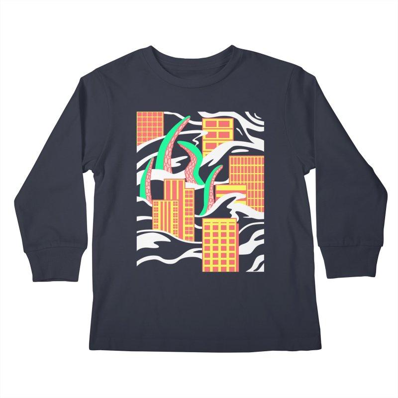 Flooded Kids Longsleeve T-Shirt by Elcorette