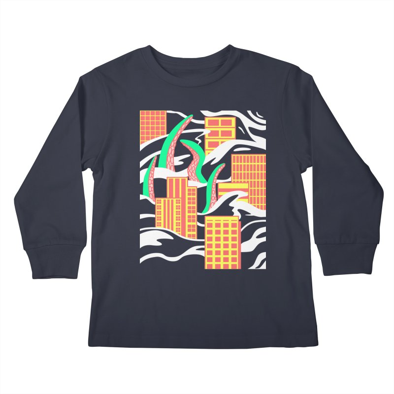 Flooded Kids Longsleeve T-Shirt by Elcorette