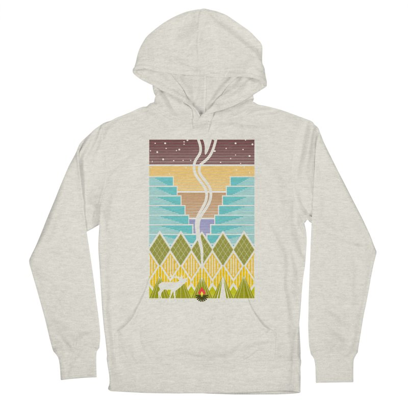 Night Camping Women's French Terry Pullover Hoody by Elcorette