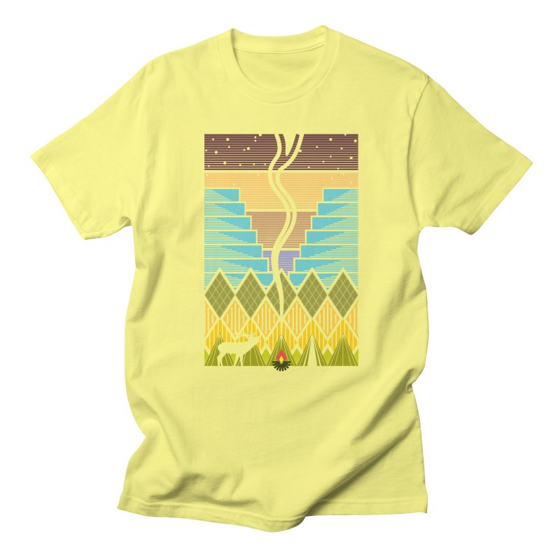 Night Camping Men's T-Shirt by Elcorette
