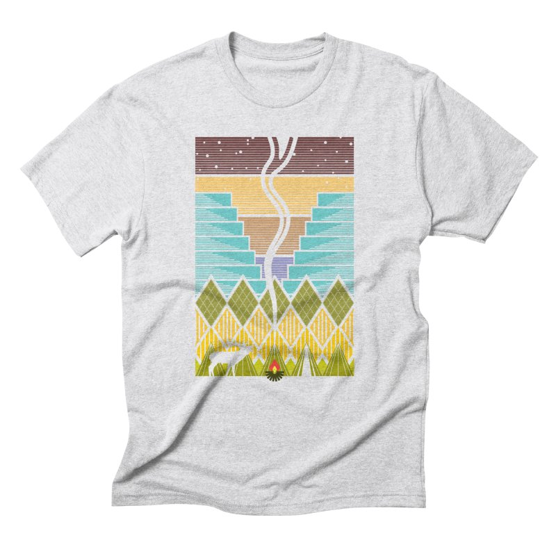 Night Camping Men's Triblend T-Shirt by Elcorette