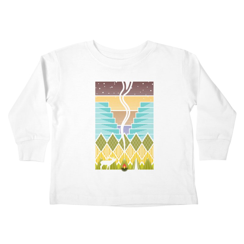 Night Camping Kids Toddler Longsleeve T-Shirt by Elcorette