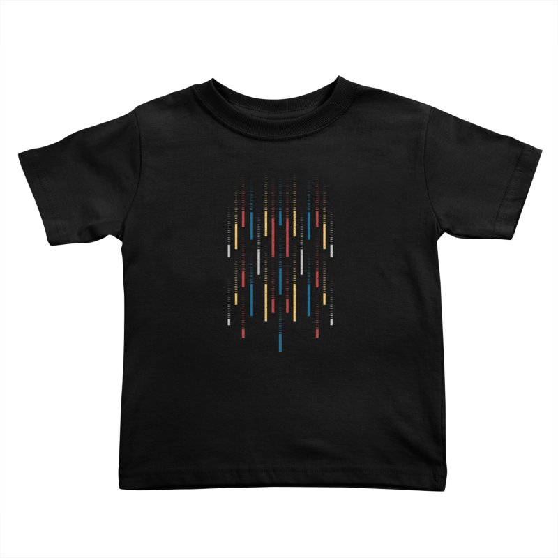 Raindrops Kids Toddler T-Shirt by Elcorette