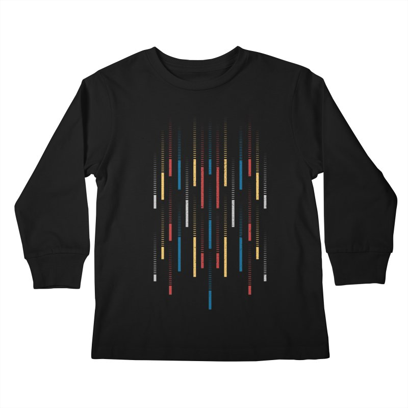 Raindrops Kids Longsleeve T-Shirt by Elcorette