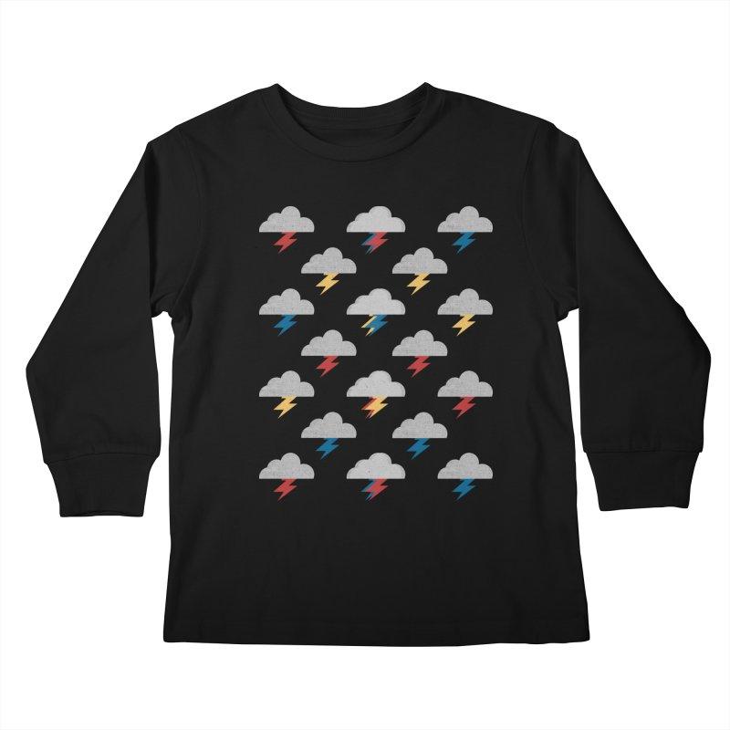 Thunderclouds Kids Longsleeve T-Shirt by Elcorette