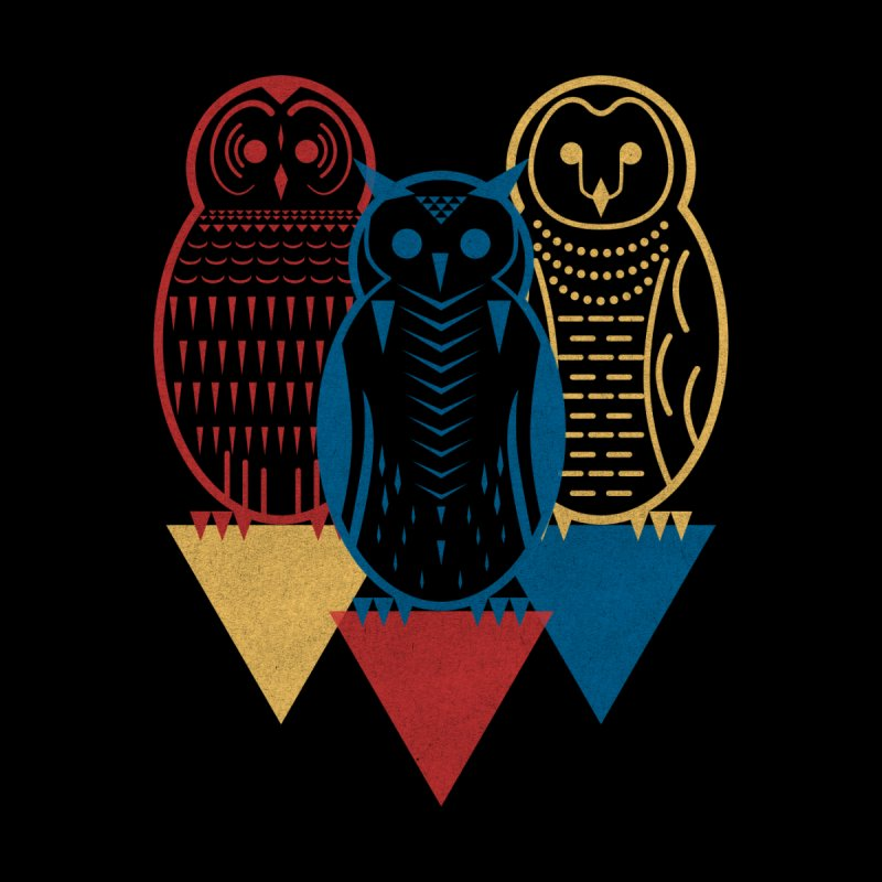 Three Owls at Night by Elcorette