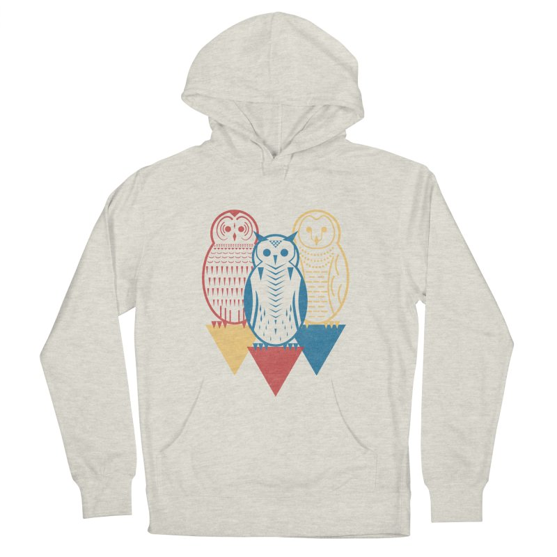Three Owls at Night Men's Pullover Hoody by Elcorette