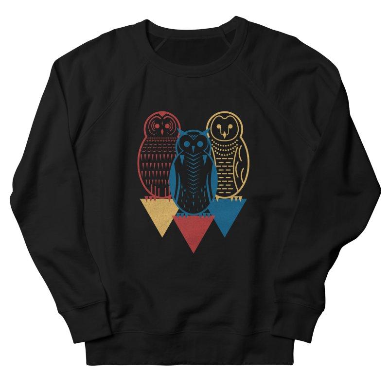 Three Owls at Night Women's Sweatshirt by Elcorette