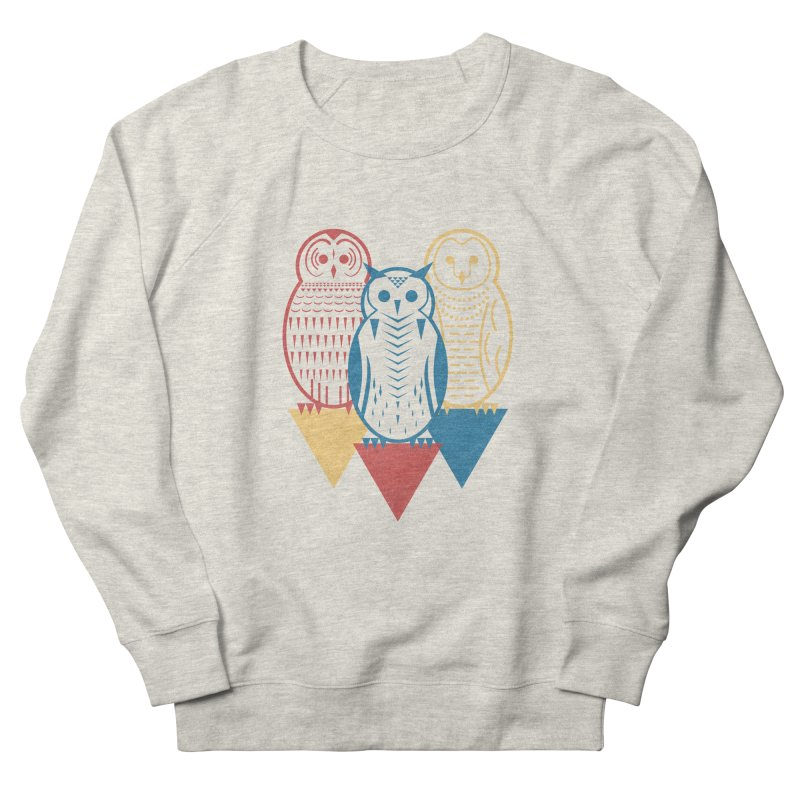 Three Owls at Night Men's French Terry Sweatshirt by Elcorette
