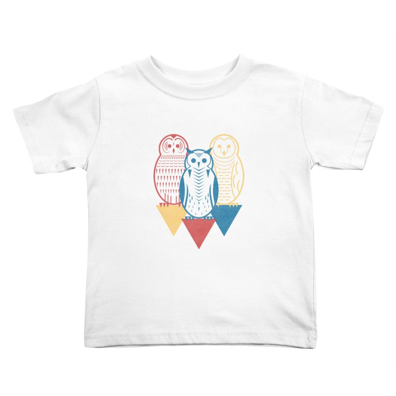 Three Owls at Night Kids Toddler T-Shirt by Elcorette
