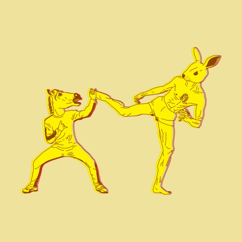 Horse-Dude Versus Kick-Bunny   by Elcorette