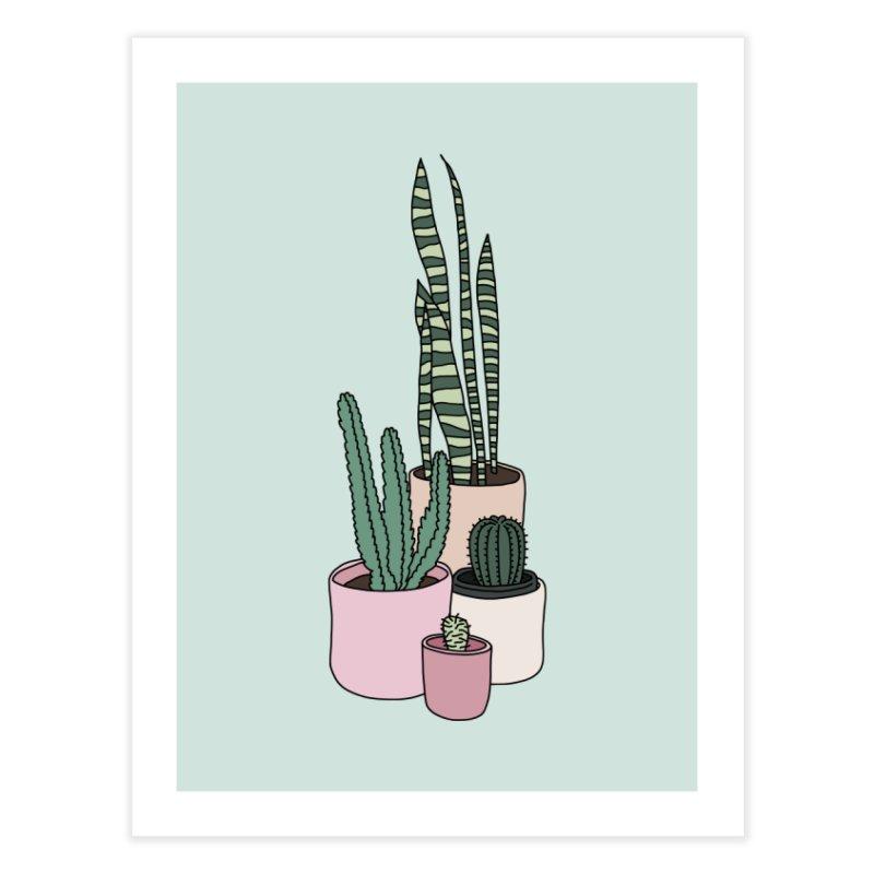 Cactus by Elebea Home Fine Art Print by elebea