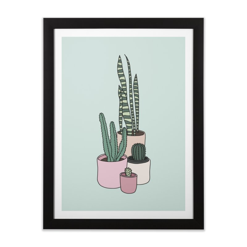 Cactus by Elebea in Framed Fine Art Print Black by elebea