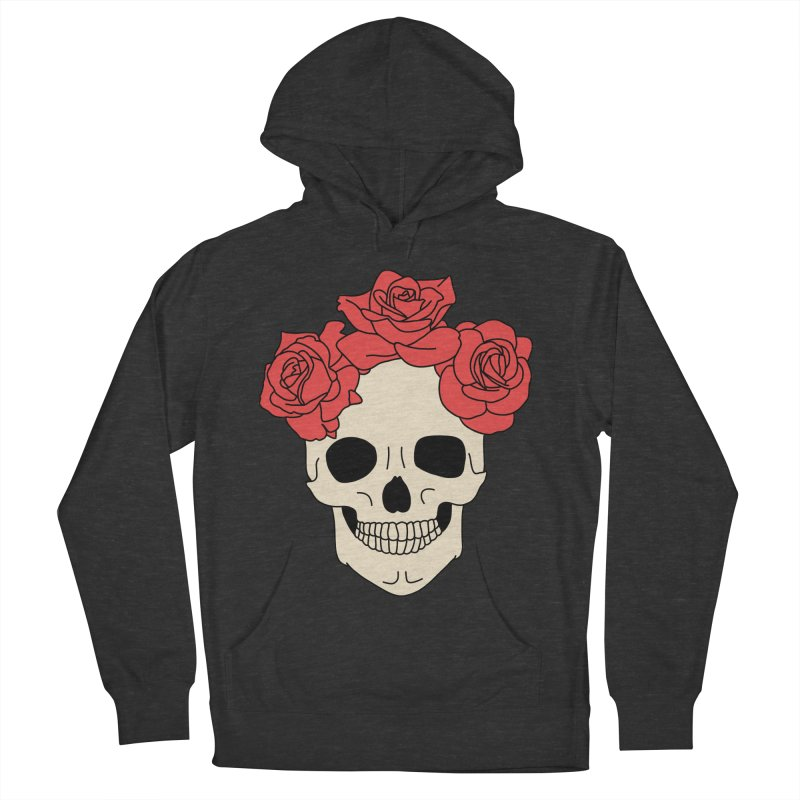 Skull and roses by Elebea Men's Pullover Hoody by elebea