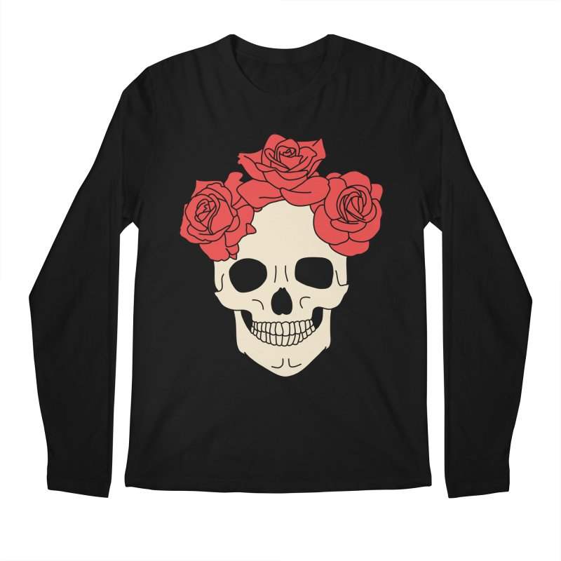 Skull and roses by Elebea Men's Longsleeve T-Shirt by elebea