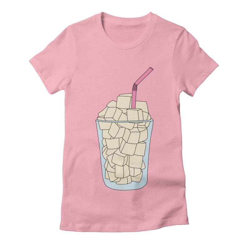 Sugar cubes by Elebea in Women's Fitted T-Shirt Light Pink by elebea