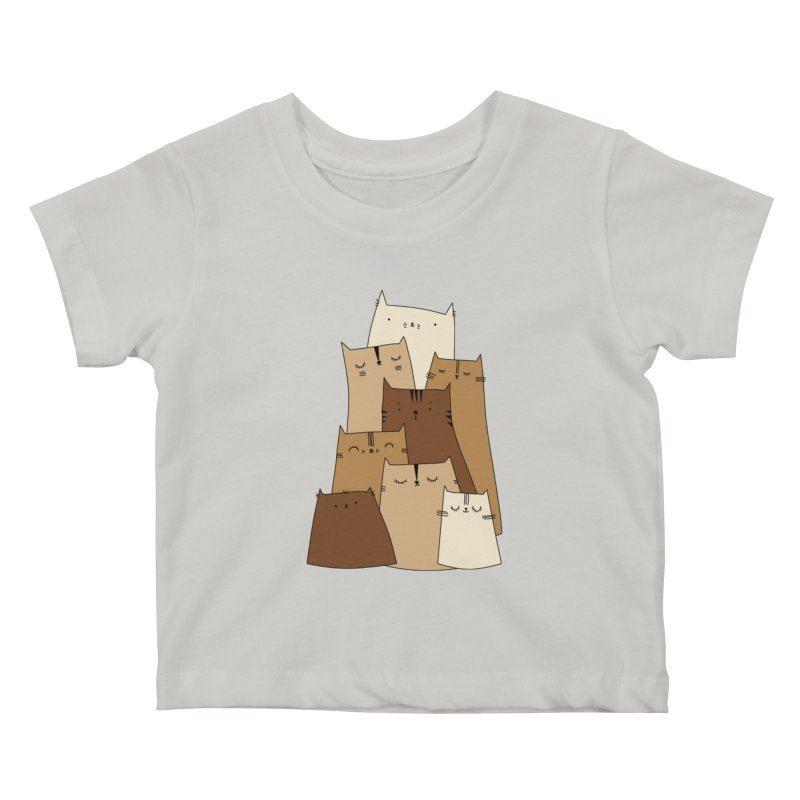 Cat mountain by Elebea Kids Baby T-Shirt by elebea