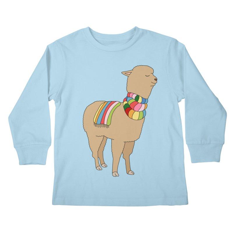 Rainbow llama by Elebea Kids Longsleeve T-Shirt by elebea