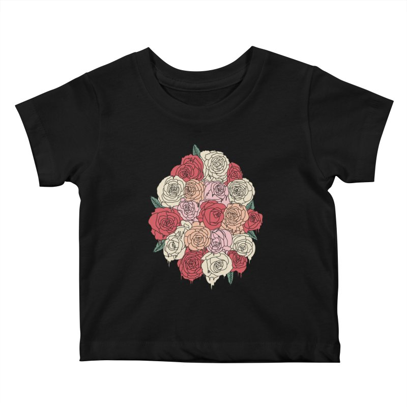 Melting roses by Elebea Kids Baby T-Shirt by elebea