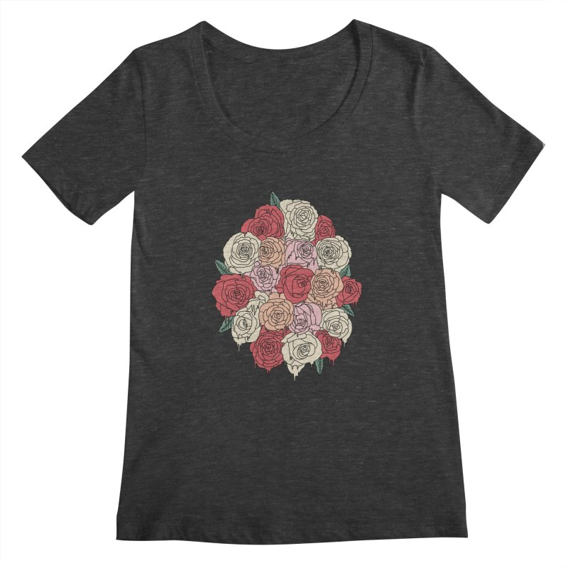 Melting roses by Elebea Women's Scoopneck by elebea