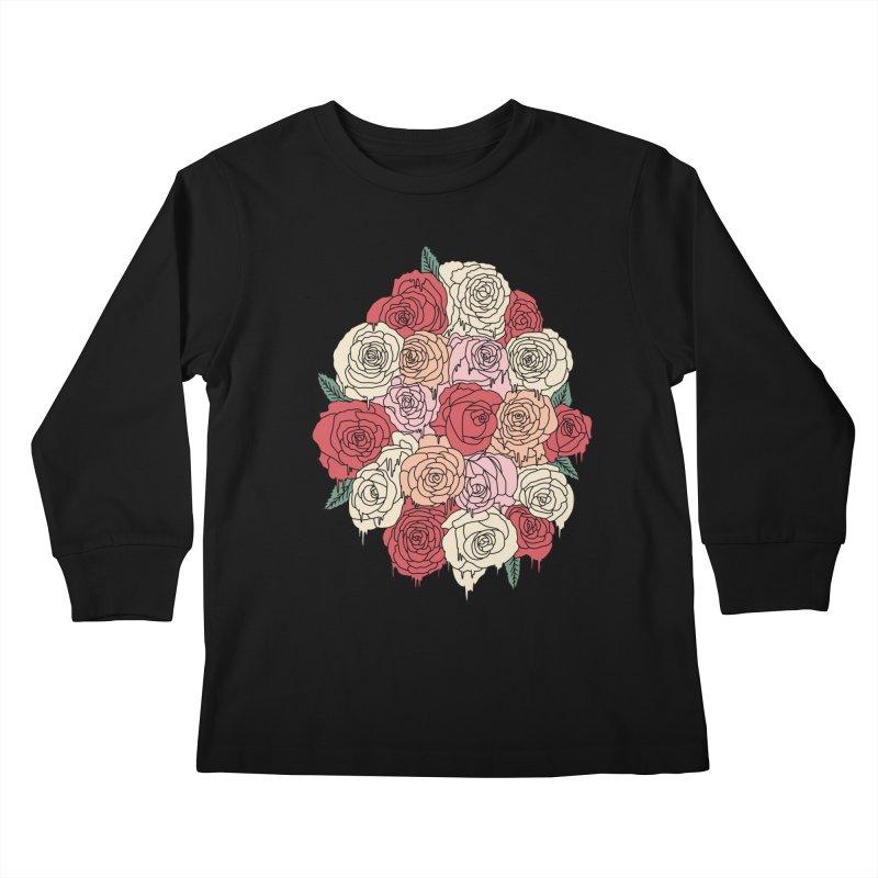 Melting roses by Elebea Kids Longsleeve T-Shirt by elebea