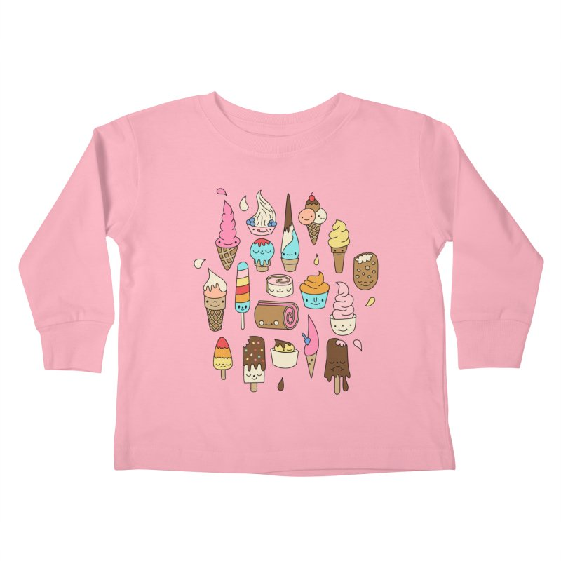 Ice cream by Elebea Kids Toddler Longsleeve T-Shirt by elebea