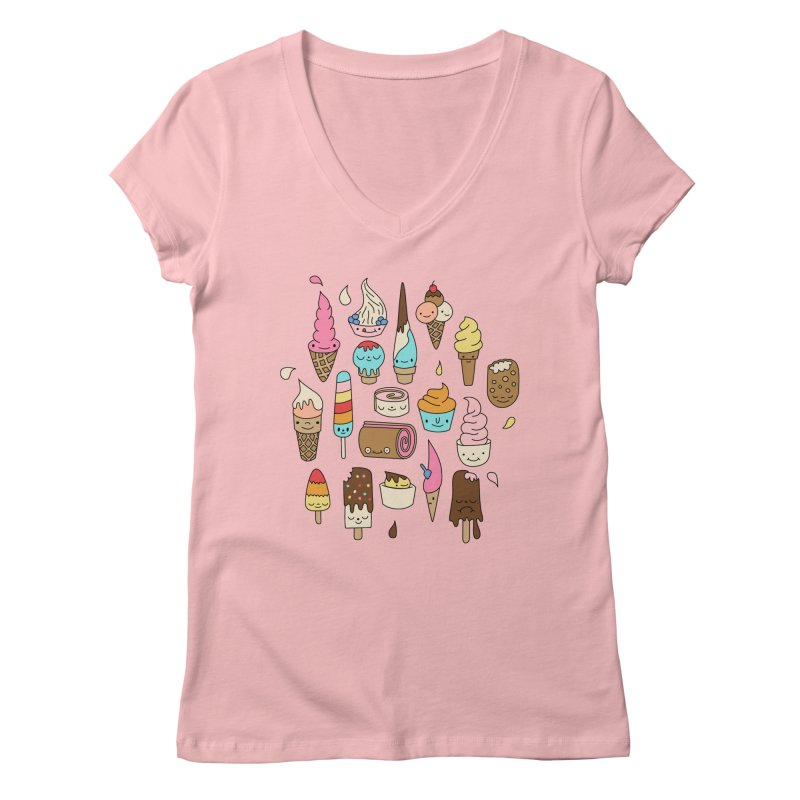 Ice cream by Elebea Women's V-Neck by elebea