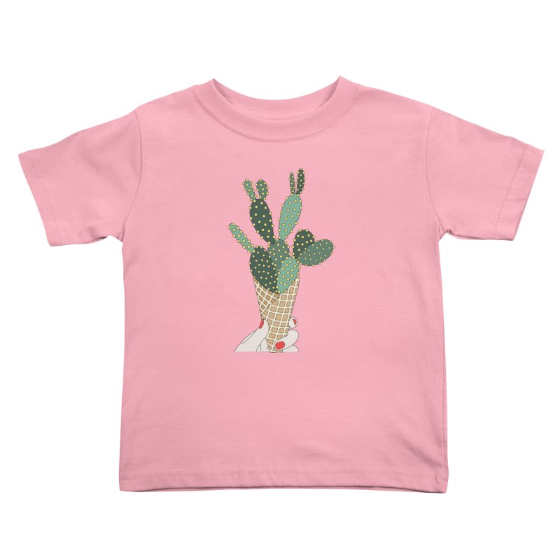 Cactus ice cream cone Kids Toddler T-Shirt by elebea