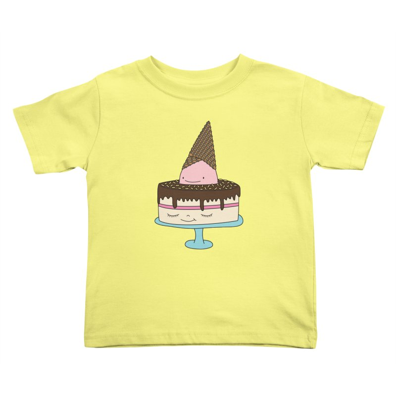 Ice cream cake Kids Toddler T-Shirt by elebea