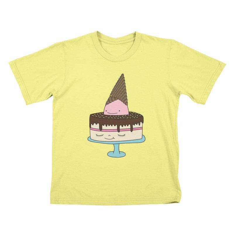 Ice cream cake Kids T-shirt by elebea