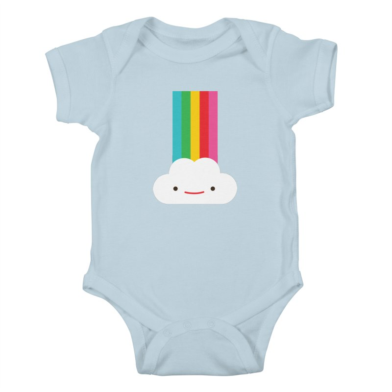 Cloud and rainbow by Elebea Kids Baby Bodysuit by elebea