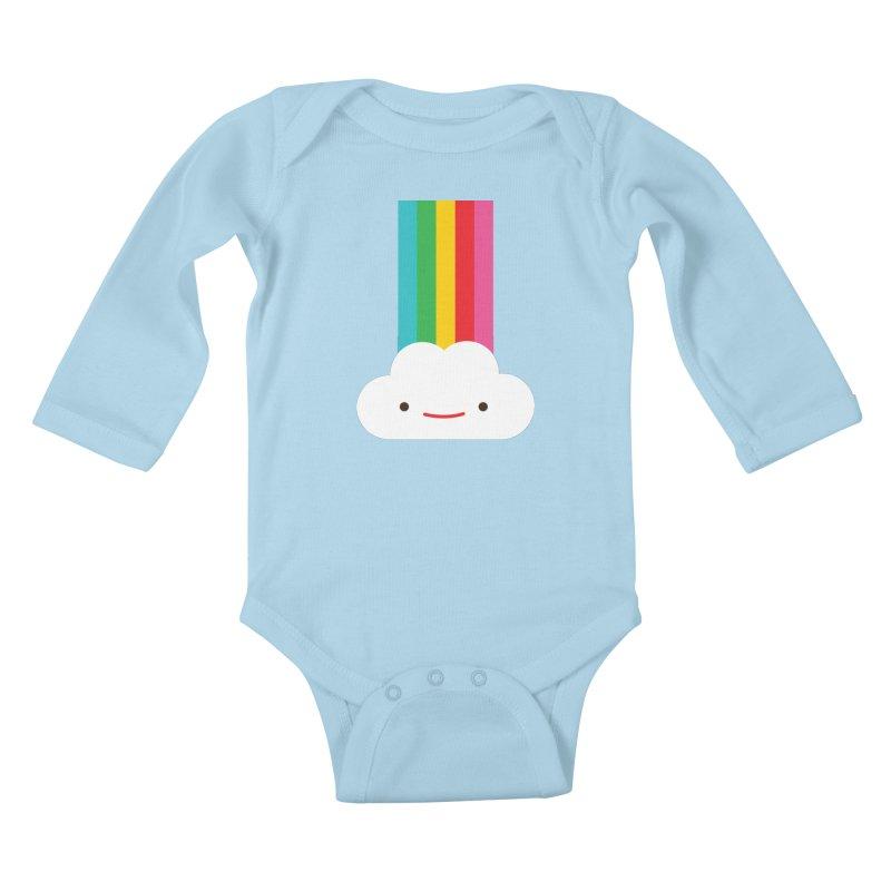 Cloud and rainbow by Elebea Kids Baby Longsleeve Bodysuit by elebea
