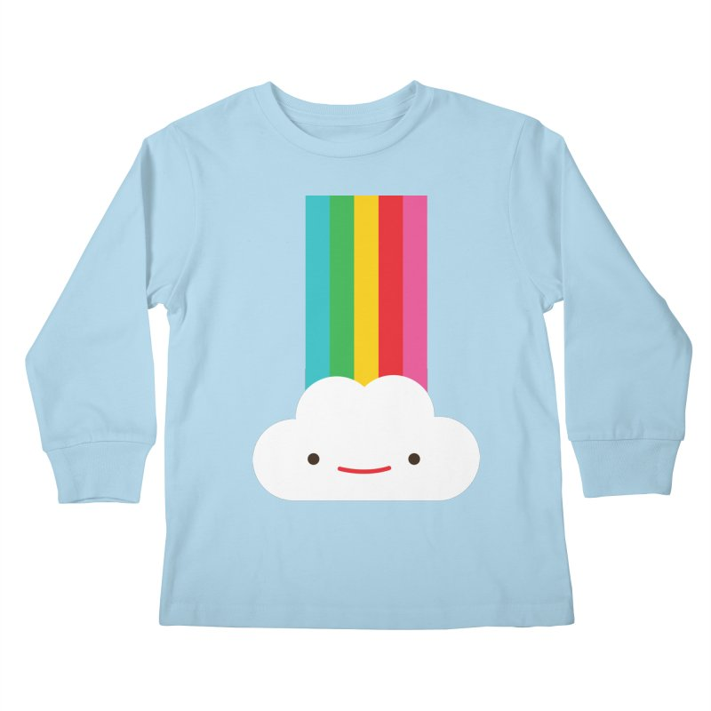 Cloud and rainbow by Elebea Kids Longsleeve T-Shirt by elebea