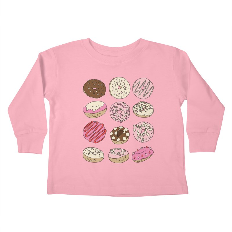 Donut paradise by Elebea Kids Toddler Longsleeve T-Shirt by elebea