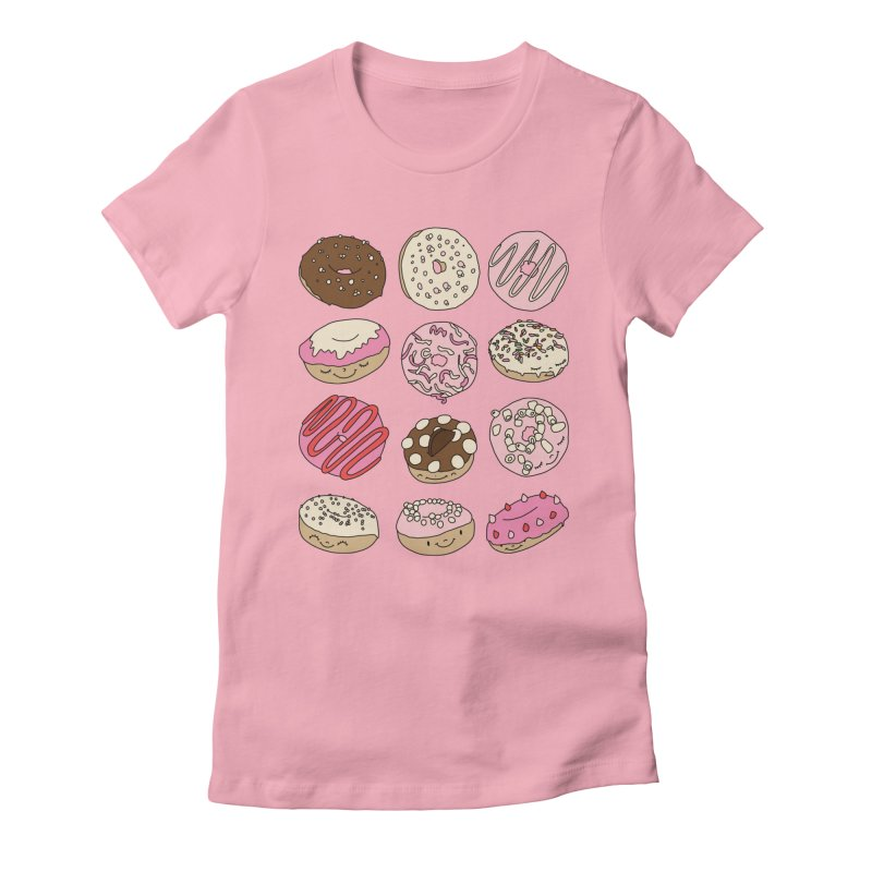 Donut paradise by Elebea Women's Fitted T-Shirt by elebea