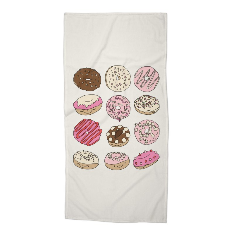 Donut paradise by Elebea Accessories Beach Towel by elebea
