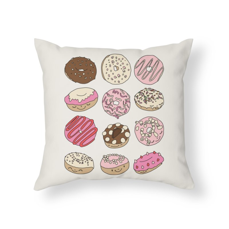 Donut paradise by Elebea Home Throw Pillow by elebea