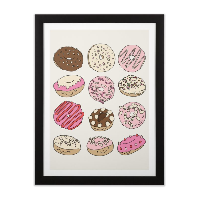 Donut paradise by Elebea Home Framed Fine Art Print by elebea