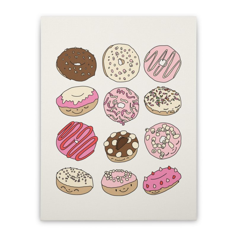 Donut paradise by Elebea Home Stretched Canvas by elebea