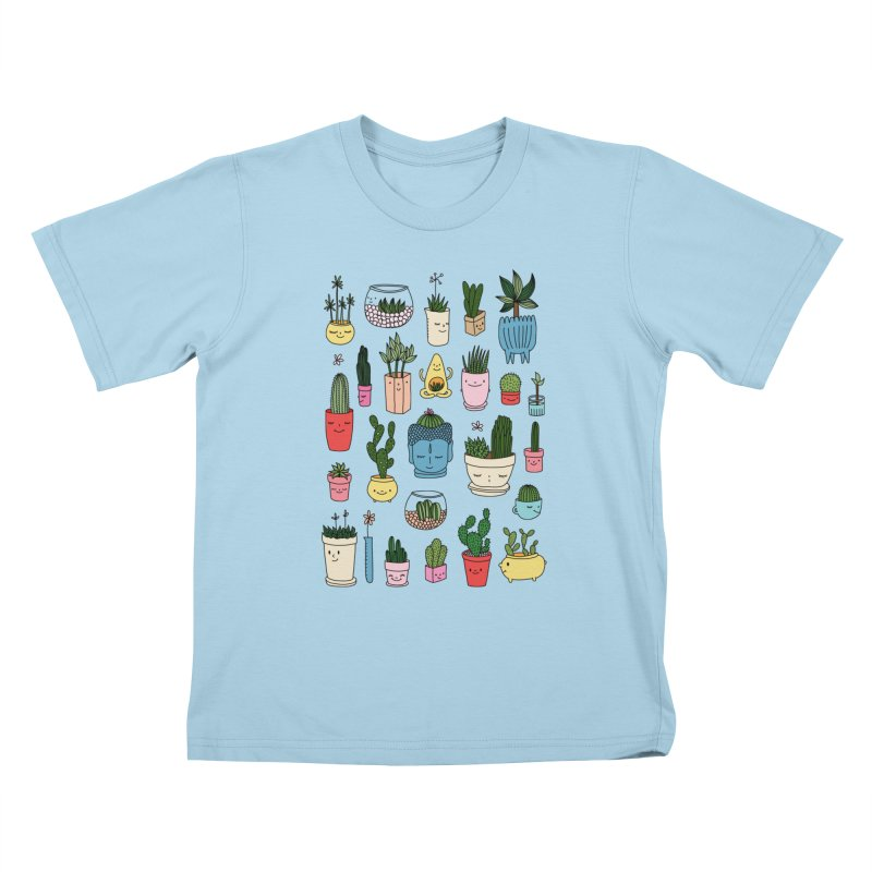 Cactus paradise by Elebea Kids T-shirt by elebea