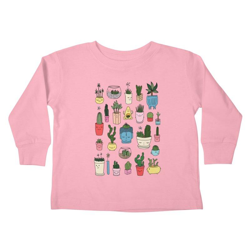 Cactus paradise by Elebea Kids Toddler Longsleeve T-Shirt by elebea