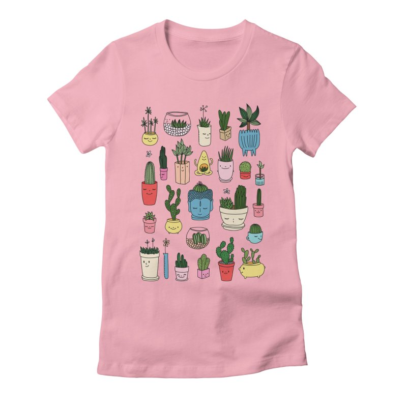 Cactus paradise by Elebea Women's Fitted T-Shirt by elebea