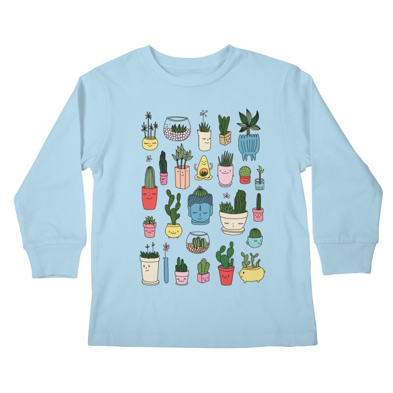 Cactus paradise by Elebea Kids Longsleeve T-Shirt by elebea