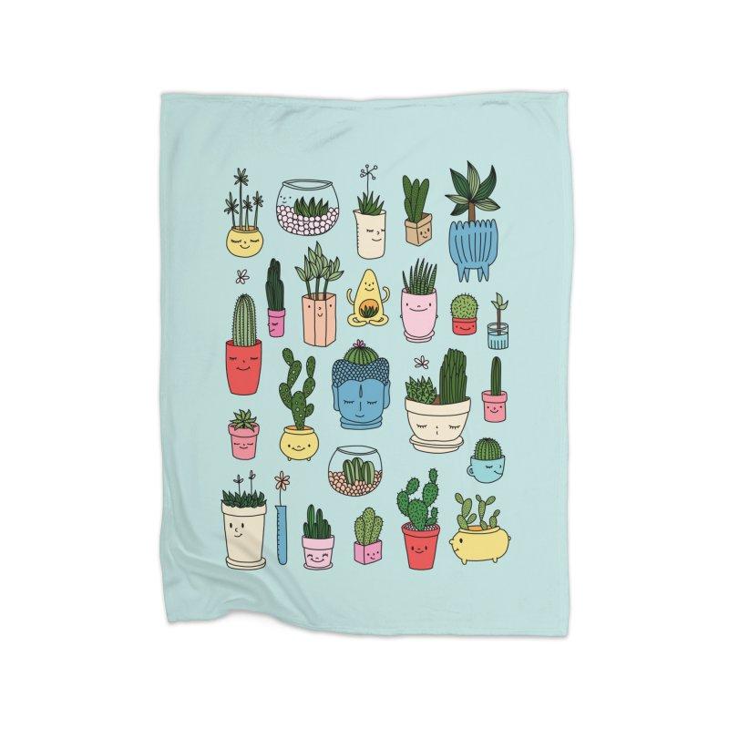 Cactus paradise by Elebea Home Blanket by elebea