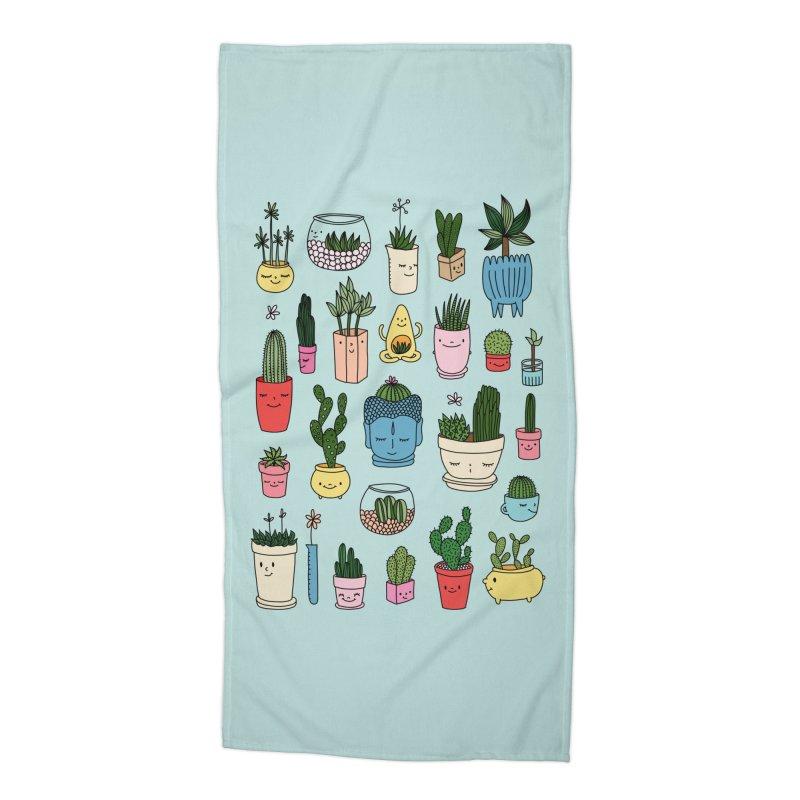Cactus paradise by Elebea Accessories Beach Towel by elebea