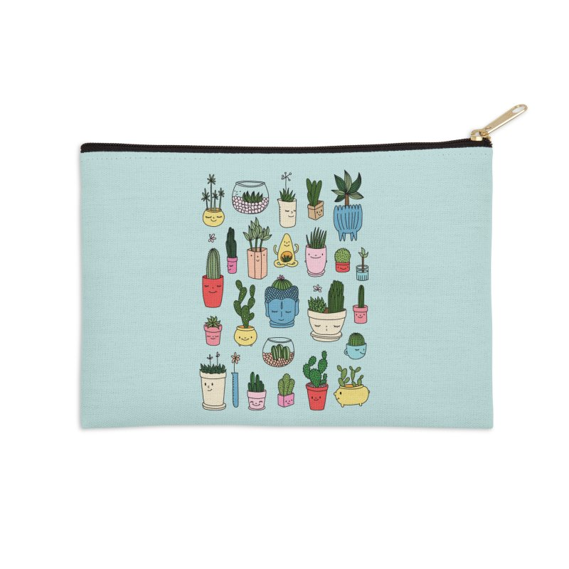 Cactus paradise by Elebea Accessories Zip Pouch by elebea