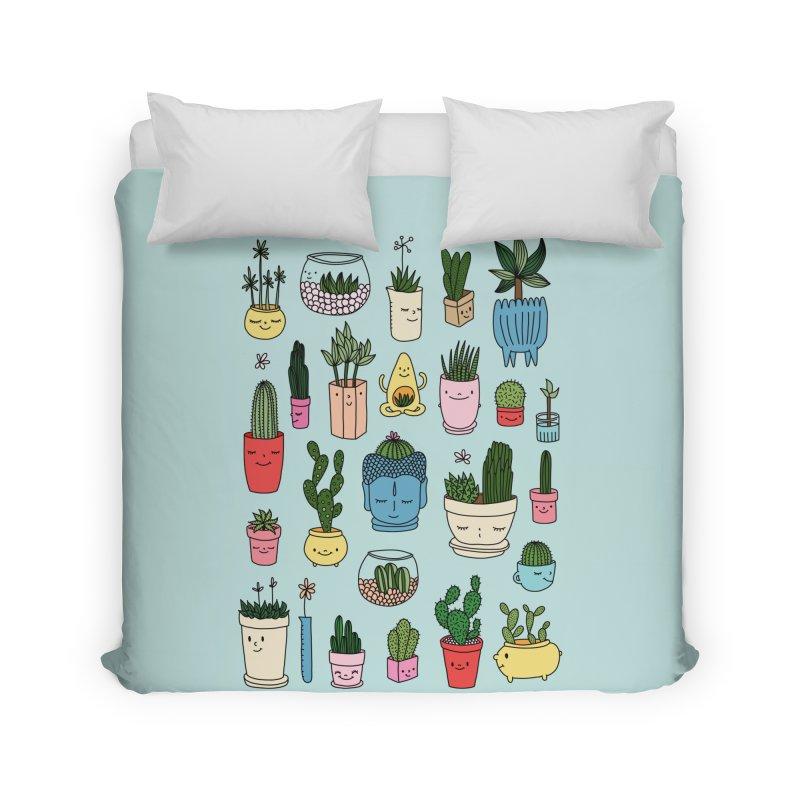 Cactus paradise by Elebea Home Duvet by elebea