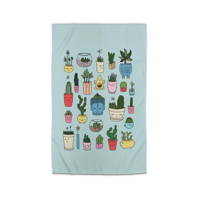 Cactus paradise by Elebea Home Rug by elebea