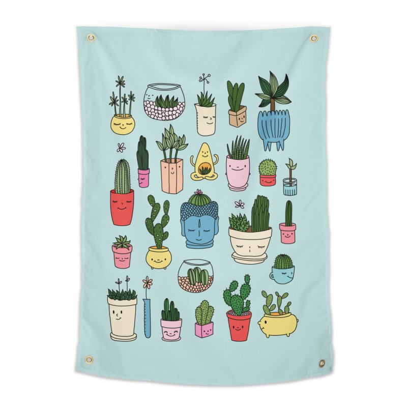 Cactus paradise by Elebea Home Tapestry by elebea