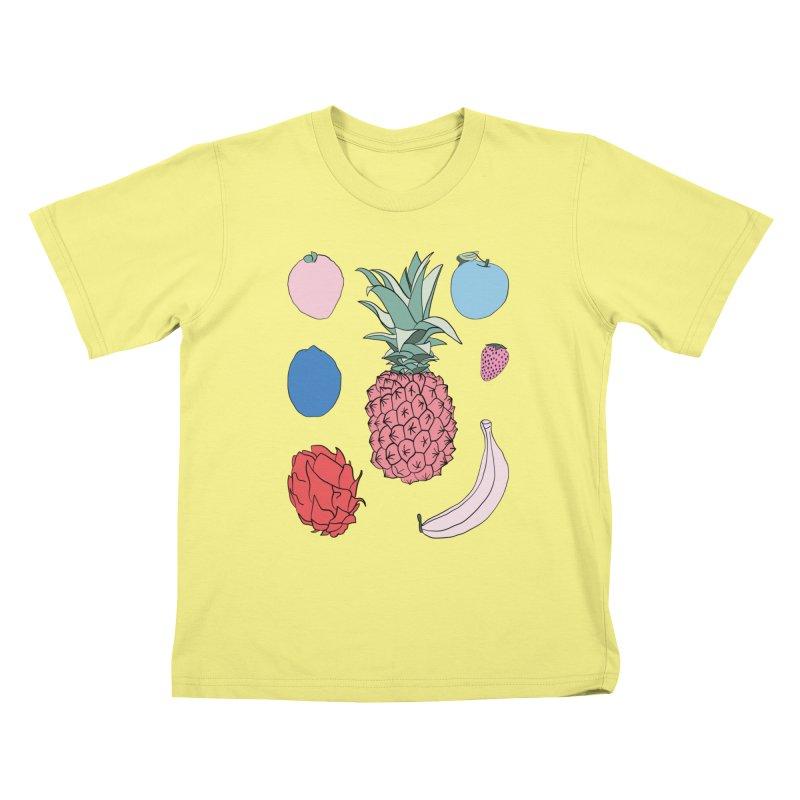 Fruit salad by Elebea Kids T-shirt by elebea